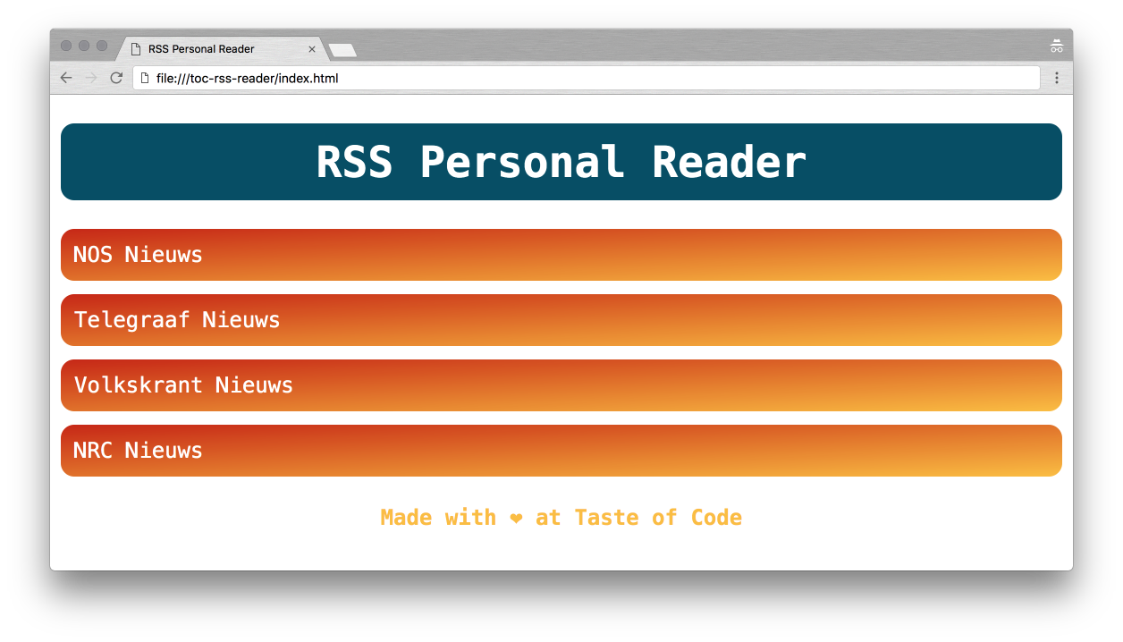Taste Of Code Rss Reader 04 Css Advanced Styling At Master